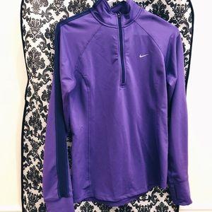 Nike Quarter 1/4 Zip New Womens Size S Purple